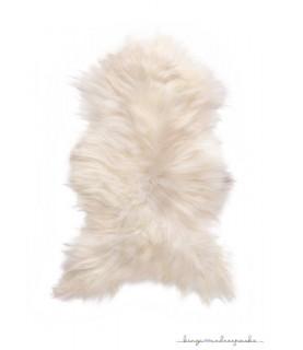 Peau de mouton islandais blanc
