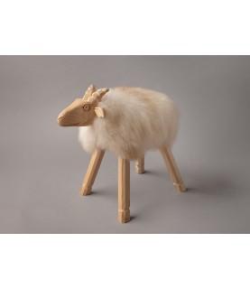 Mouton sculpté recouvert...