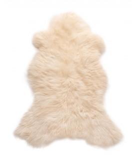 Peau de mouton blanche